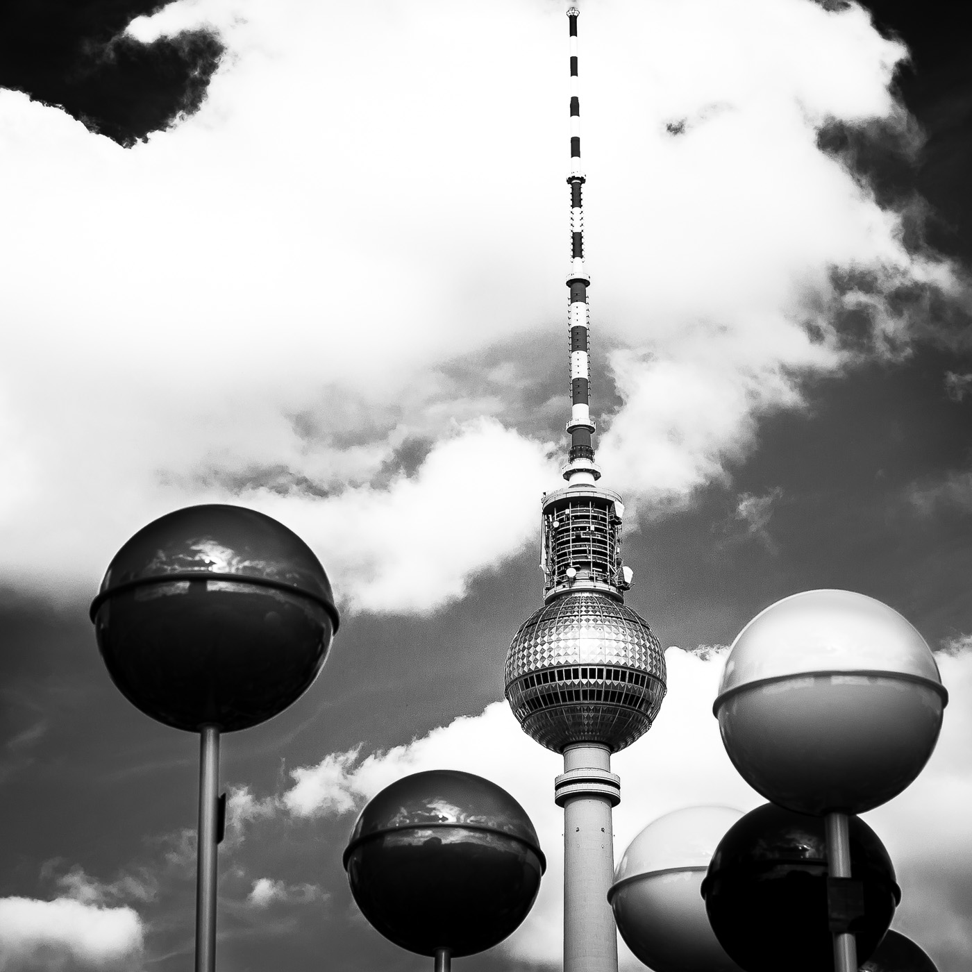 Spheres around the tower